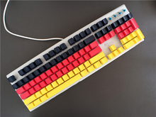 Black Red Yellow 3 Colors Cherry MX switch PBT Keycap 104/87 keys Radium valture Side-printed Keycap for Mechanical Keyboard