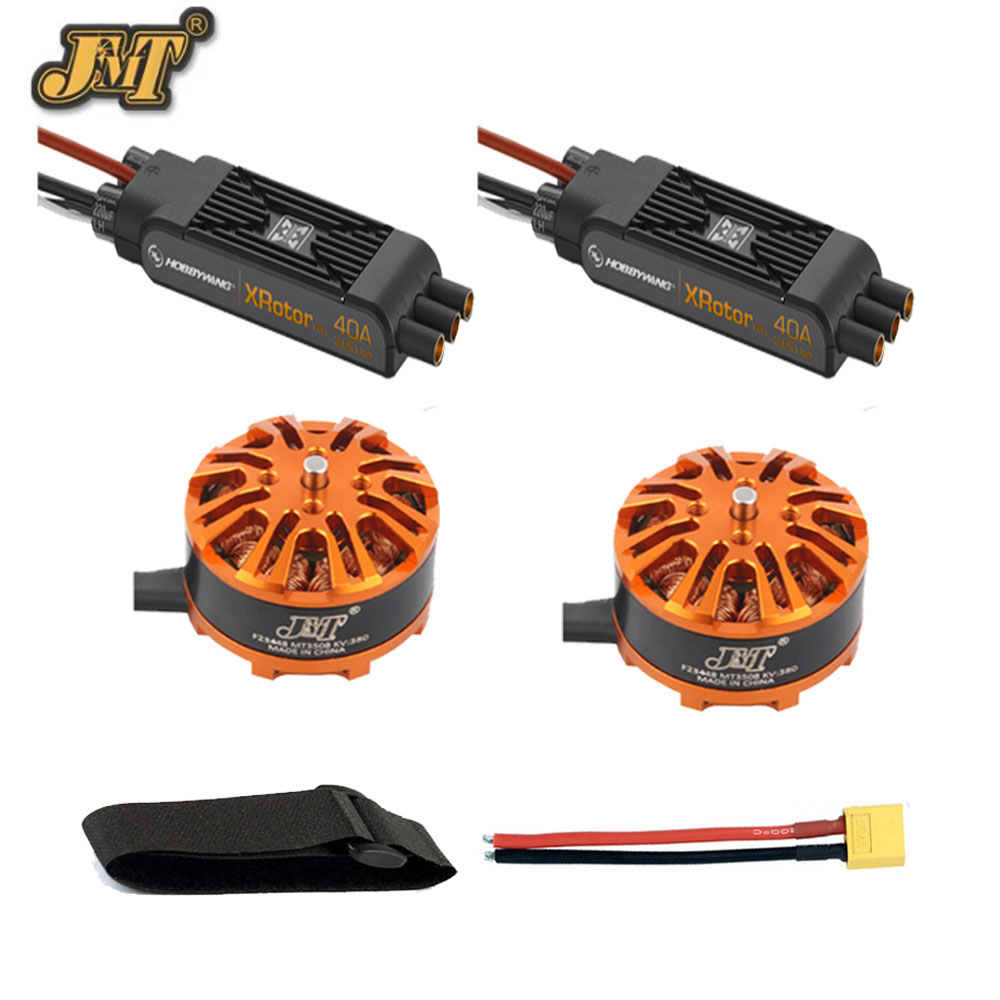DIY Multi-rotor Motor Combo 3508 380kv Motor Hobbywing XRotor Pro 40A ESC XT60 Connector Fastening Tape for RC Drone Hexacopter original dji e600 3508 motor 20a esc 1242 propeller power combo kits for dji f450 f550 hexacopter drone high efficiency