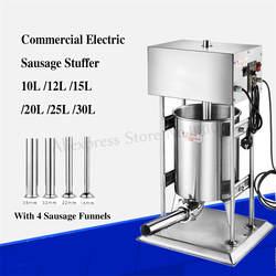 Автоматический Электрический 25 литров большой колбасный шприц наполнитель салями машина колбаса, Мясорубка Еда магазины для переработки