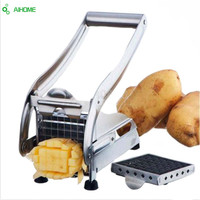 Drop Ship Stainless Steel French Home Fry Fries Potato Chips Strip Cutting Cutter Machine Maker Slicer Chopper Dicer + 2 Blades