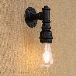 Loft Retro przemysłowe lampa oświetleniowa amerykańska kreatywny żelaza rury wodociągowe kinkiet u nas państwo lampy