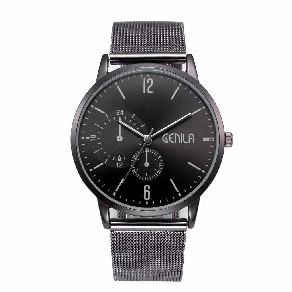 Nieuwe Relogio Masculino High-End Eenvoudige Fashion Horloges Mannen Klassieke Horloge Quartz Luxe Roestvrij Stalen Horloge erkek kol saati