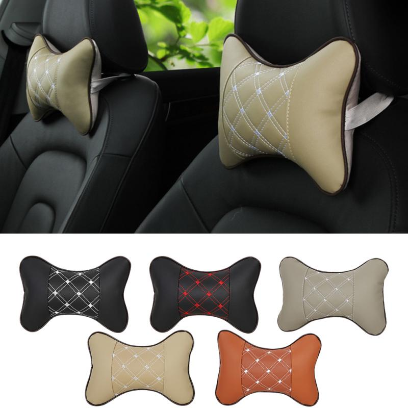 Auto Safety Pillow Car Headrest Breathe Car Auto Seat Head Neck Rest Cushion Headrest Pillow Pad