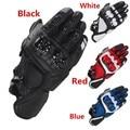 Equipo de carreras de motos guantes de cuero real superior road racing guante pk knox guantes moto guantes talla m/l/xl