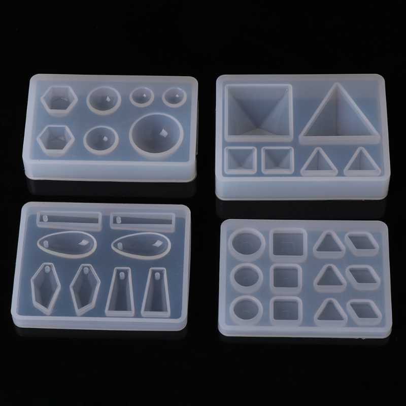 قالب من السيليكون الجديد لتقوم بها بنفسك هندسية مثلث مرآة الحرفية صنع المجوهرات كعكة الزخرفية