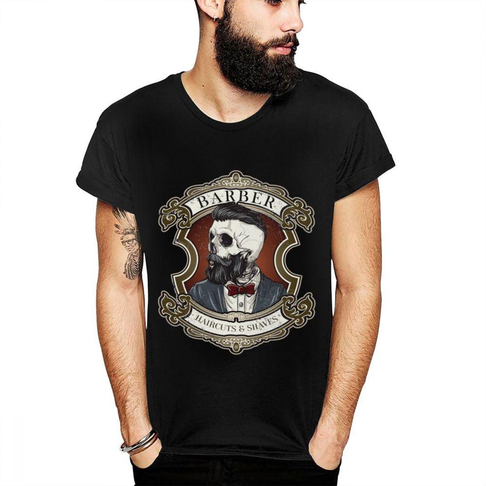 Cavalheiro Loja Do Barbeiro Corte de Cabelo E Raspa Especialidades Diárias Camiseta De Algodão Macio Feito Sob Encomenda Original Novo La Camiseta Casual T-shirt do Verão
