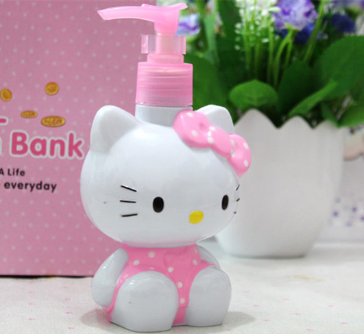 Multifunctional Water Bottle kids Cartoon Cute Kitty Plastic Gift Christmas gift Perfume Refillable Bottles for Bath hand wash