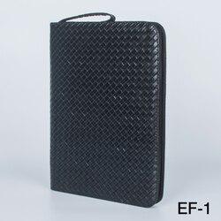 Gran capacidad pluma estilográfica funda cuero PU Color negro 48 ranuras pluma bolsa
