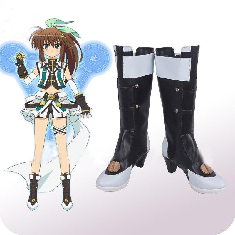 Magical Girl Lyrical Nanoha ViVid Strike! Fuuka Reventon Cosplay Shoes Boots Women's Halloween Carnival Party Costume Accessory