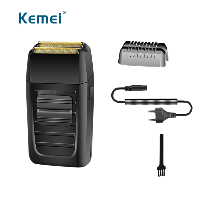 Kemei Electric reciprocating hair shaver double blade rechargeable hair trimmer razor for men face care hair