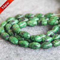 2015 New For Necklace 7 12mm Green Ruby Zoisite Round Loose Jade Beads Rice Jasper DIY