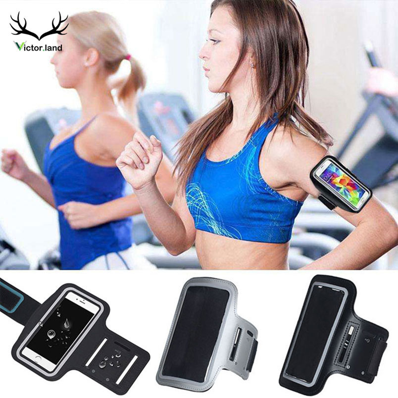 Generous Black Gym Running Armband For Samsung Galaxy S8 A5 J7 2017 S9 Plus Note 9 8 S6 S7 Edge A8 2018 J5 2016 Arm Band Phone Bag Case Special Buy