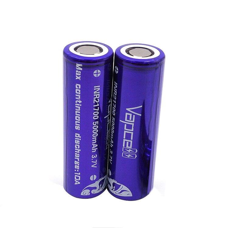 Vapcell 4 шт. INR 21700 5000 мАч 10A литий ионная аккумуляторная батарея с Nitecore Новый I4 Digi зарядное устройство ЖК дисплей Интеллектуальный для дыма E CIG - 5