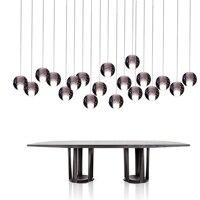 Free gratuite moderne pendentif lumière dc12v g4 led ampoules inclus cristal suspension éclairage escaliers salle à manger loft lumière lampe