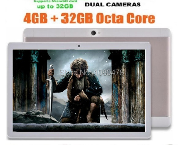 10 inch Android Tablet pc 4GB RAM 32GB ROM 8 Cores Dual Cameras 5.0MP 1280*800 IPS GPS WiFi Tablets Metal Case+Gifts