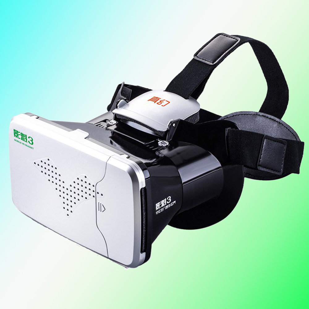 New Arrival RITECH Riem 3 Virtual Reality 3D VR Glasses Head Mounted Headset Private Theater for 3.5 – 6 inches Smartphone