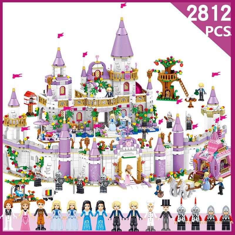 2812 pcs Fée film château Blocs de Construction jouets pour enfant Princesse Château Compatible Legoe Amis Ville Château Modèle Fille Jouets