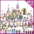 2812pcs Fairy movie castle Building Blocks toys for child Princess Castle Compatible Legoe Friends City Castle Model Girl Toys