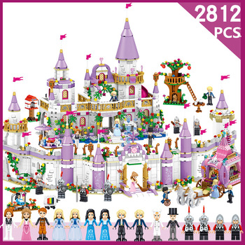 2812pcs Fairy movie castle Building Blocks toys for child Princess Castle Compatible Legoe Friends City Castle Model  Girl Toys 983pcs harri castle hall hogwartse express building blocks educational toys compatible with lepining friends city