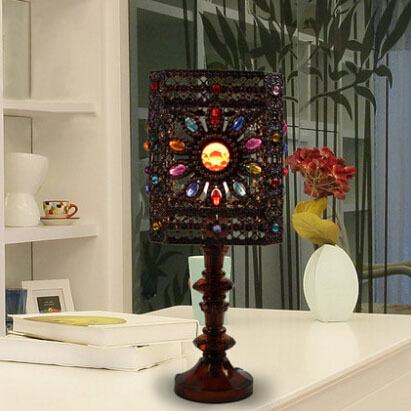 European Table Vintage Lamp Bedroom Bedside Lampe Deco Warm Living Room Touch Study