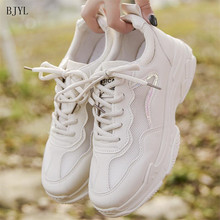 BJYL 2019 Summer Trendy Women Sneakers Thick Sole Ladies Platform Shoes Chunky Mesh Chaussures Femme B139