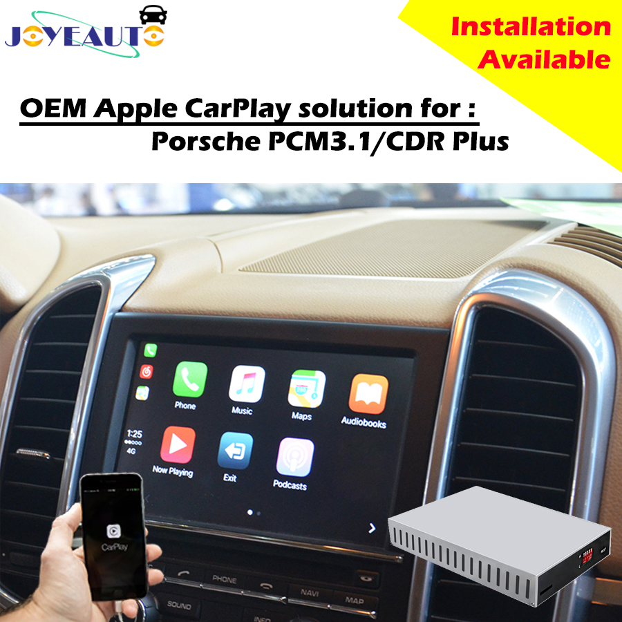 aftermarket smart auto multimedia carplay box oem apple carplay retrofit  for porsche pcm3 1 cdr plus cayenne macan for panamera