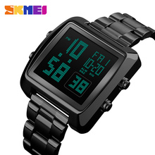 Fashion SKMEI Clock Mens Gold Watches Sports Watch Countdown LED Digital Display Men's Watch Wrist Relogio Masculino Saati 1369 splendid fashion electronic watch mens womens rubber led watch date sports bracelet digital wrist watch masculino reloje
