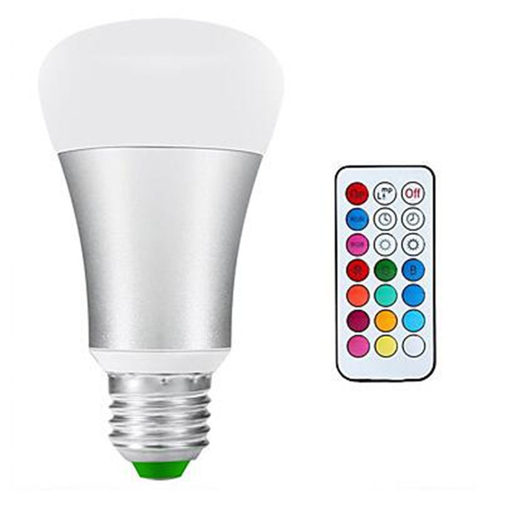 10W RGB LED Bulb E27/E26 AC85-265V 12 Color Change  RGB+Cold Whte Magic Stage Lamp With IR Remote Controller zly 8801 touchable color change magic lantern resonance speakers w aux input tf white