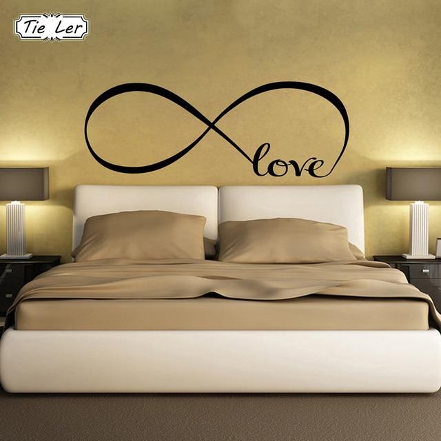 Tie Ler Bedroom Wall Stickers Decor Infinity Symbol Word Love Vinyl Art Sticker Decals Decoration