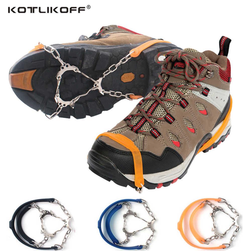 Đa Năng 6 Đinh Chống Trượt Tuyết Băng Kẹp Giày Mũi Nhọn Cầm Cleats Mùa Đông Ngoài Trời Chống Trơn Trượt Băng Kẹp bao Da Crampons