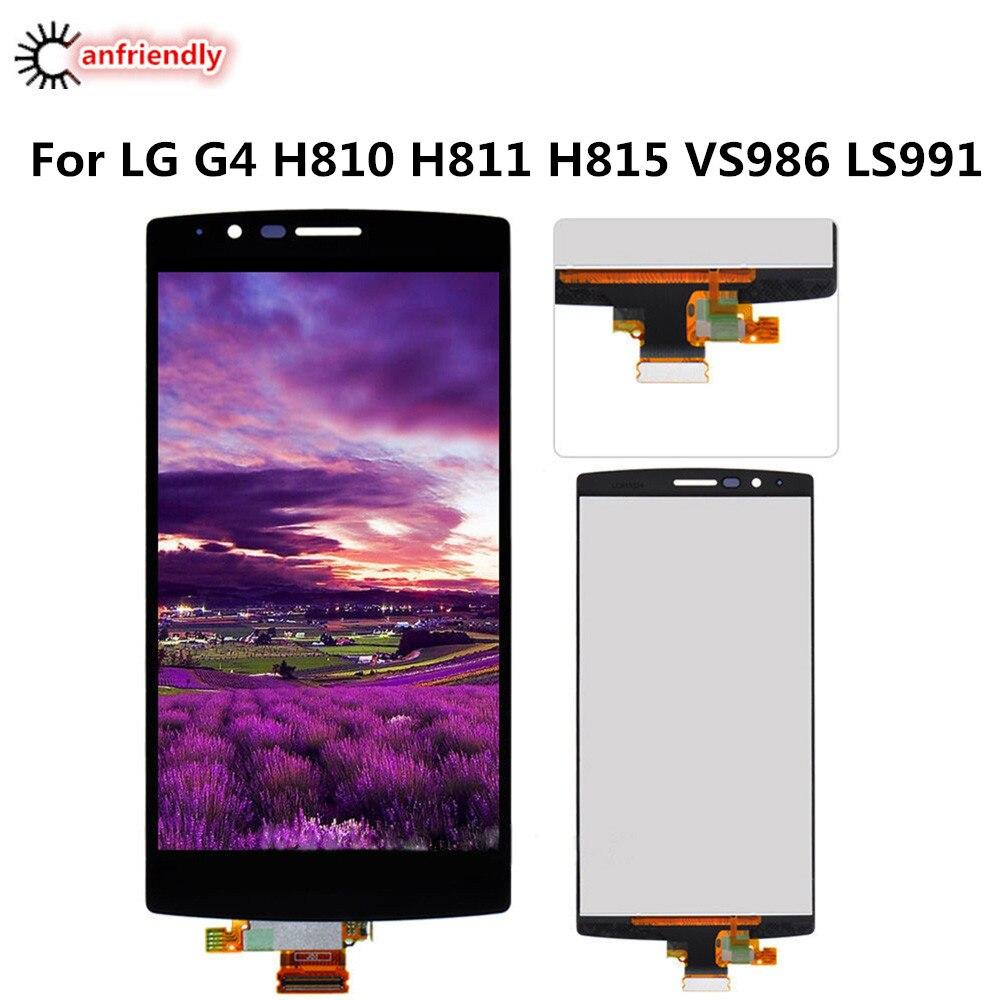 imágenes para Para LG G4 H810 H811 H815 VS986 LS991 Pantalla LCD + Touch Reemplazo de la pantalla lcd de pantalla Digitalizador Asamblea Para LG G4 4G reemplazar