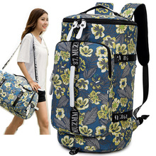 travel bag women 2018 luggage duffle bag waterproof Canvas printing backpack packing cubes canvas bags for luggage weekend bag