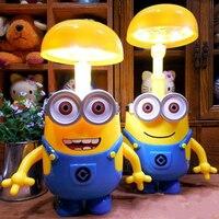 Minions Night Lights Cartoon LED Night Light Baby Room Kids Bed Lamp Sleeping USB Night Lamp