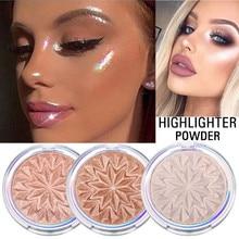 Многоцветная подсветка подсветки Косметика Shimmer Powder Contour Лицо Бронзатор Палитра Женская