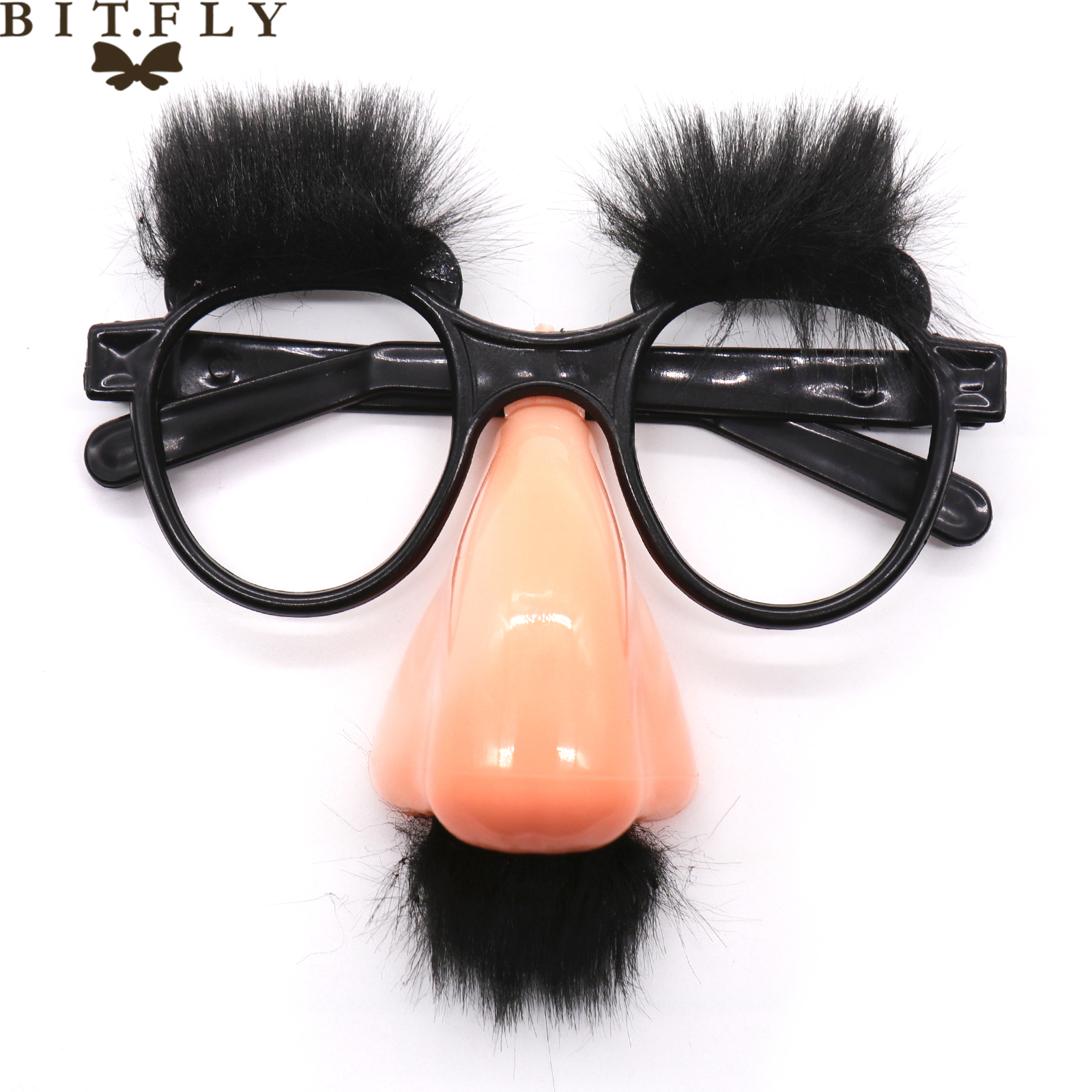 New Stylish Lovely Funny Foolish Nerd Halloween Black Old Man Glasses Eyebrow Nose with Mustache Costume Party decoration suppli
