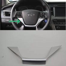 Car Accessories Interior Decoration ABS Steering Wheel Cover Decorative Trim For Hyundai Sonata 2015 Styling