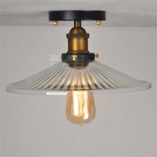 retro corridor light small ceiling lamp diameter 25CM/30CM creative porch crystal glass lampshade umbrella