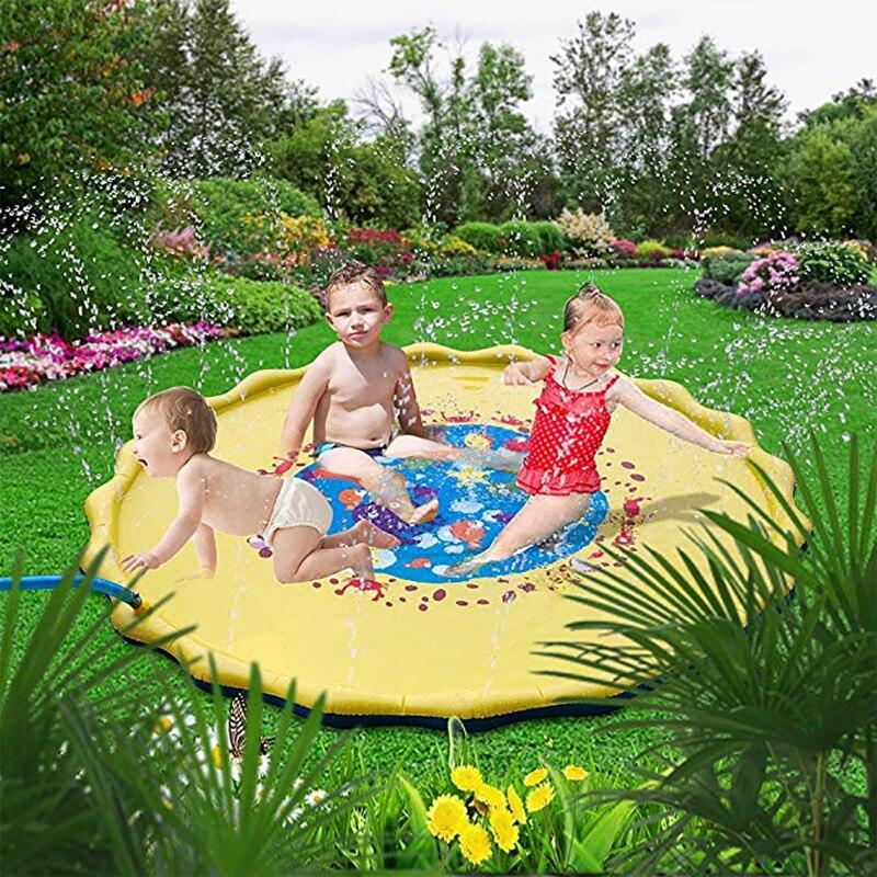 HTB1t.J2XNv1gK0jSZFFq6z0sXXac 170cm Children Play Water Mat Games Beach Pad Kids Outdoor Water spray Beach Mat Lawn Inflatable Sprinkler Cushion Toys Cushion