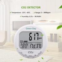 Качество воздуха в помещении монитор CO2 детектор CO2 Газовый Детектор термометр гигрометр Измеритель влажности CO2 монитор газоанализатор