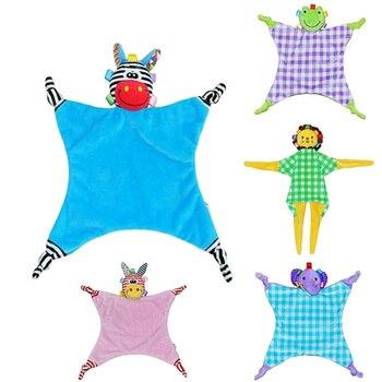цена Baby Toys 0-12 Months Baby Rattle Comfort Toys Baby Sleeping Dolls BB Bells Infant Toys Comfort Towels for Mothers Baby Boy Toys онлайн в 2017 году