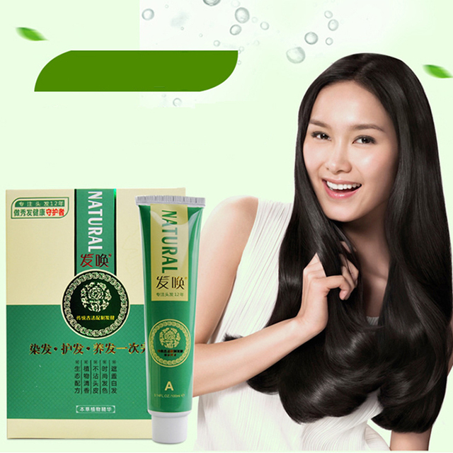 Natural Plant Hair Dye Salon Barber Professional Non Irritating Fragrance Cream Semi Permanent Coloring