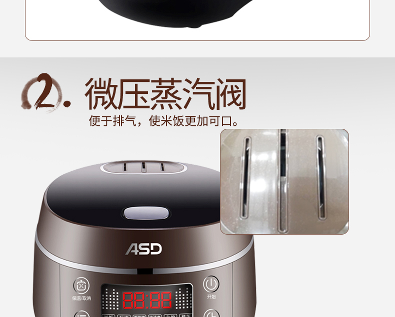9409477cd Electric Intelligent Multi Rice Cooker 3L 220V for 1-4 People 24h Reservation  Timing Rice Maker Mini Steamer Boiler Cake MakerUSD 165.98 piece
