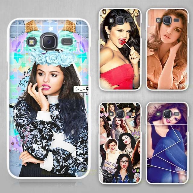 Selena Gomez Hard White Plastic Case Cover for Samsung Galaxy J1 J2 J3 J5 J7 C5 C7 E5 E7 2016 2017 Emerge