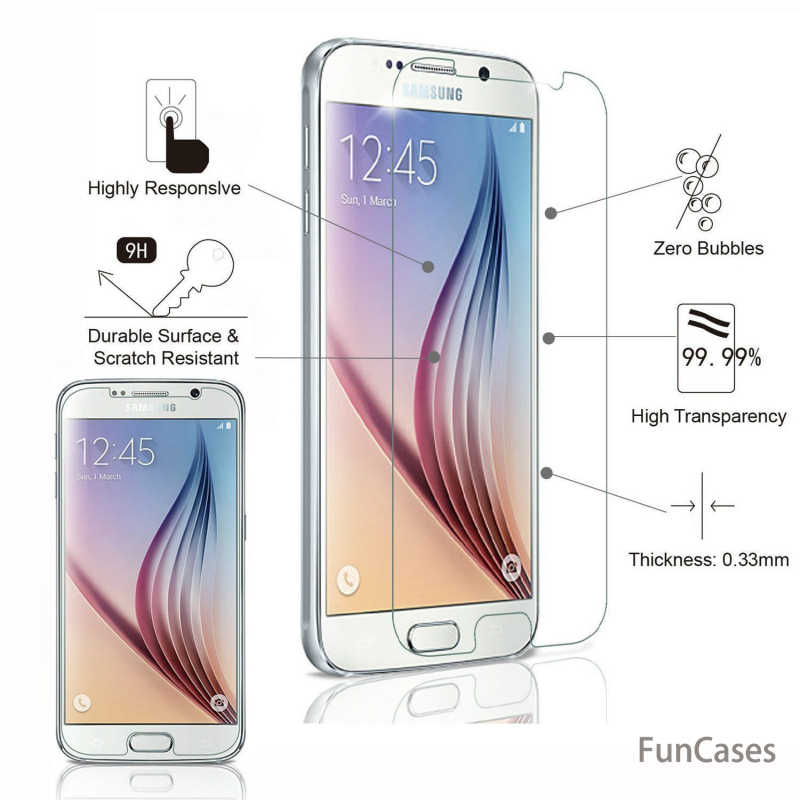 9 HTempered de cristal para Samsung Galaxy A3 A5 A7 2017 J1 J3 J5 J7 2016 Protector de pantalla para Samsung A6 a8 J4 J6 2018 película protectora