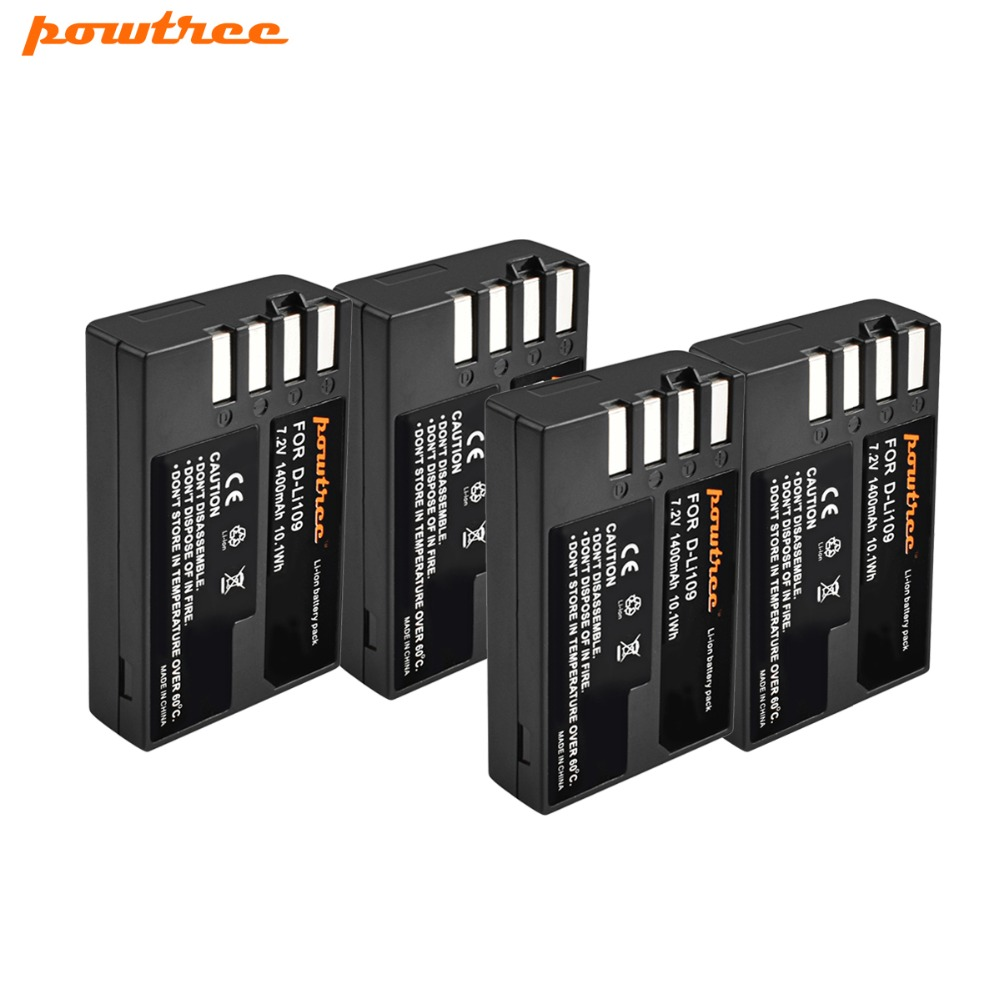 4pcs 7.2V 1400mAh Li-ion akku DLI109 D-LI109 D LI109 Camera Battery For PENTAX K-R K-2 KR K2 KR K30 K50 K-30 K-50 K500 K-500 L15 d and k da1323301 page 2