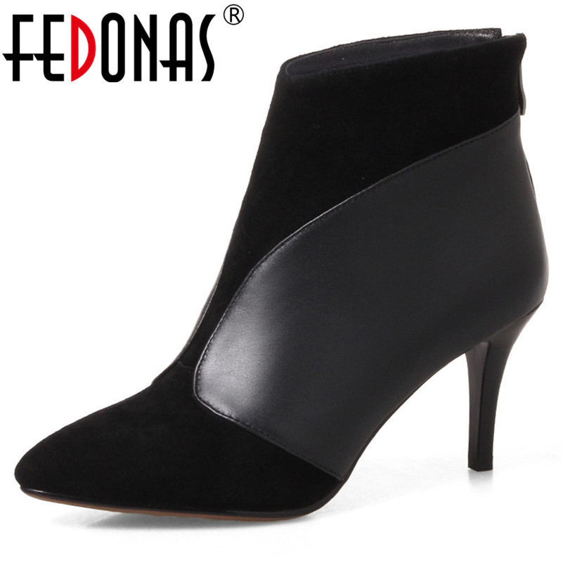 FEDONAS Fashion High Heels Office Pumps Women Autumn Winter Pointed Toe Ladies Shoes Woman New Arrival
