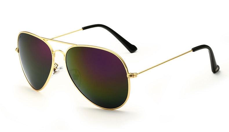 Солнцезащитные очки унисекс VEITHDIA, брендовые классические дизайнерские очки с зеркальными поляризационными стеклами, степень защиты UV400, для мужчин и женщин - Цвет линз: goldpurple