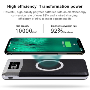 Image 3 - チーワイヤレス充電器 Protable の外部バッテリ電源銀行デュアル USB 電話充電 iphone 8 サムスン S8 注 8 9 bateria 充電