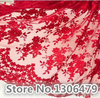 1yard 7 Colors Optional French Lace Fabric High Quality Tulle Embroidered Flower Transparent Net Lace Fabric
