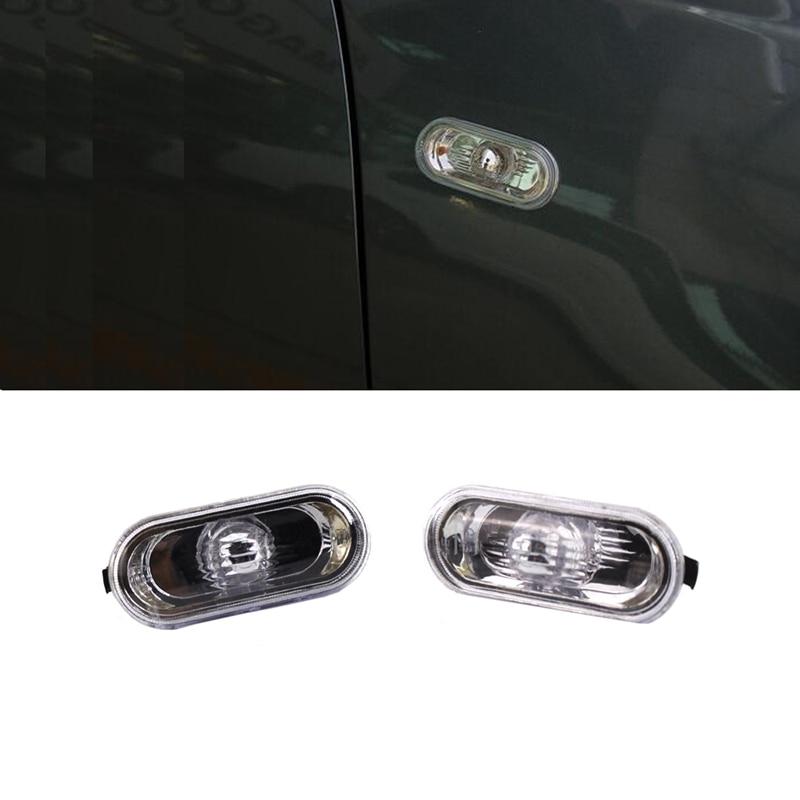 JEAZEA 2x Side Marker Light Turn Signal Light Lamp Cover for VW Bora Jetta Golf 4 MK4 1997-2004 Passat B5 B5.5 POLO 2pcs car auto side marker light for vw jetta golf bora mk4 passat b5 b5 5 gti beetle r32